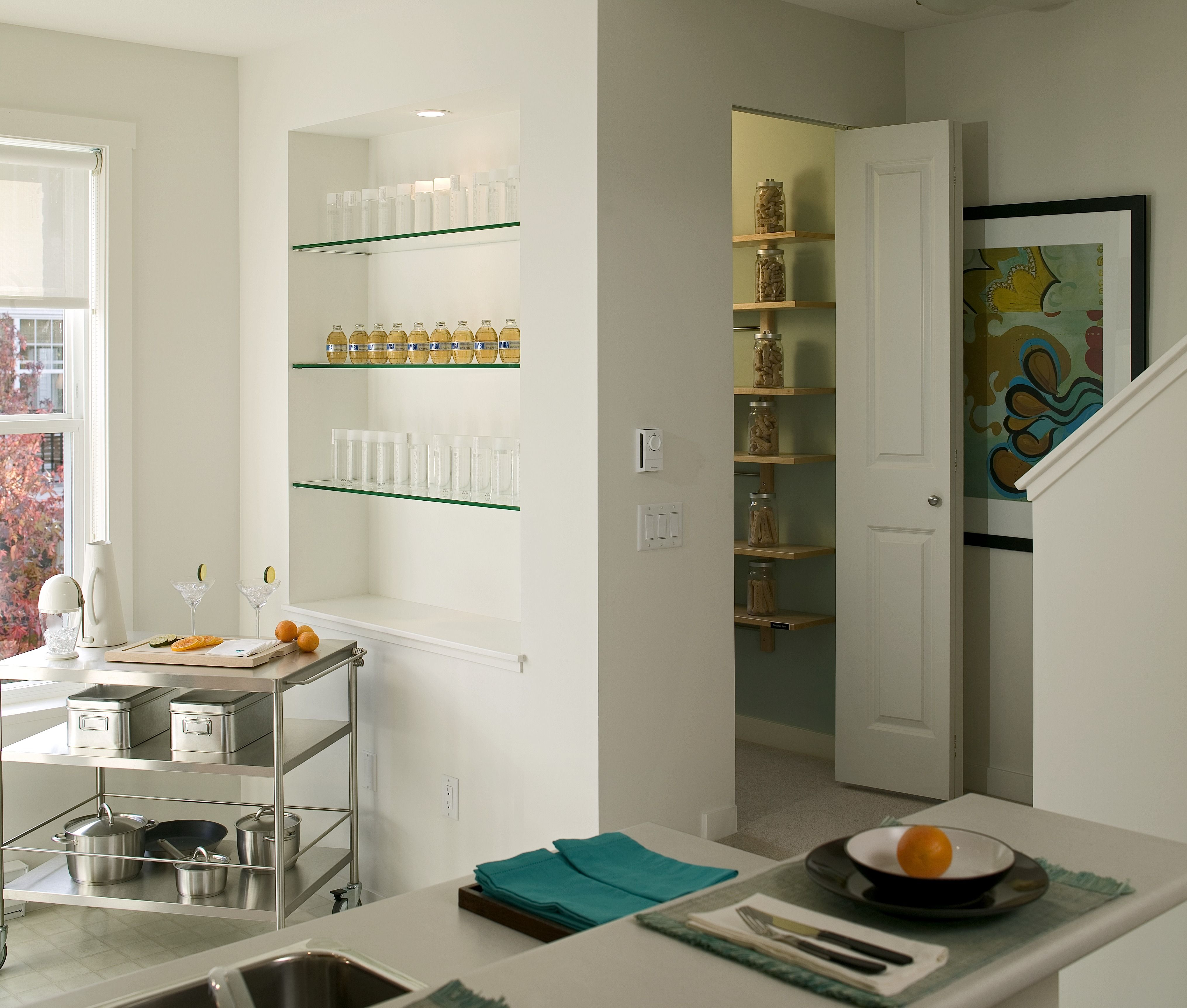 Open shelving is a great way to make your kitchen look bigger than