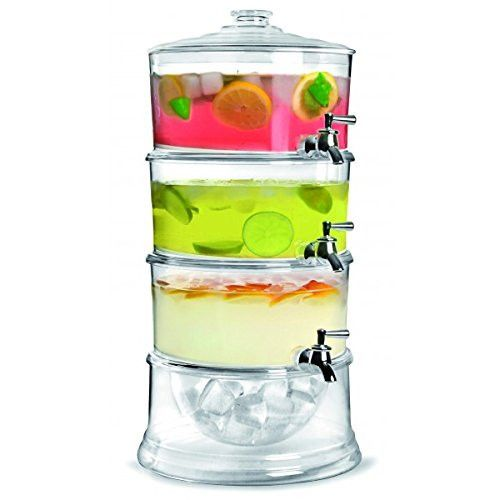 Enjoy the summer with many flavorful refreshing drinks with this multi-tiered juice dispenser.  You can have a backyard party and fill each layer with a different and vibrant colored drink to create a fun atmosphere. It even has a space for ice to keep your drink cool. This is the perfect gift for anyone who loves to e