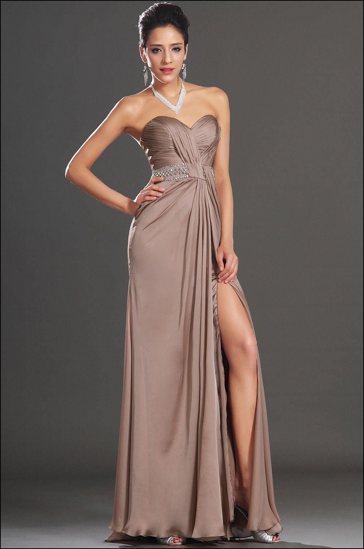 Tan evening Gowns | vestidos de noche | Pinterest | Gowns and High heel