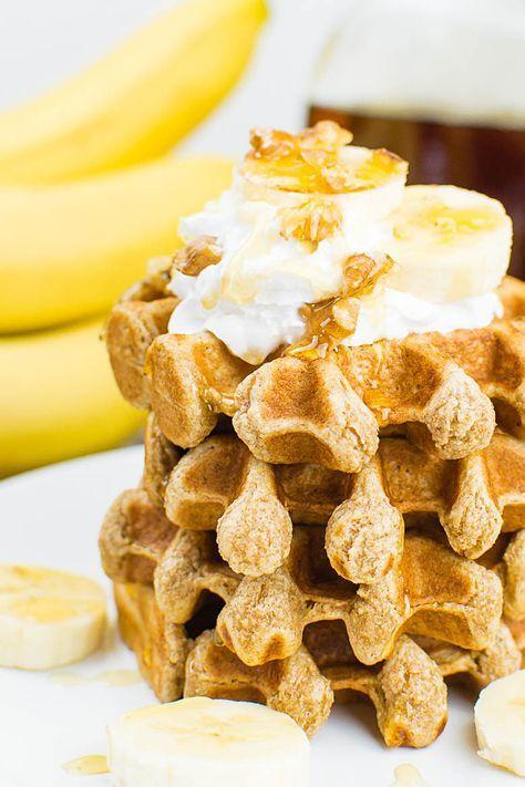 Fluffige Vollkorn-Bananen-Waffeln {vegan}