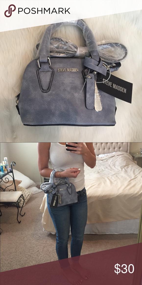 3cc6ba7d690d Steve Madden Denim Bfaith Crossbody Handbag Brand new