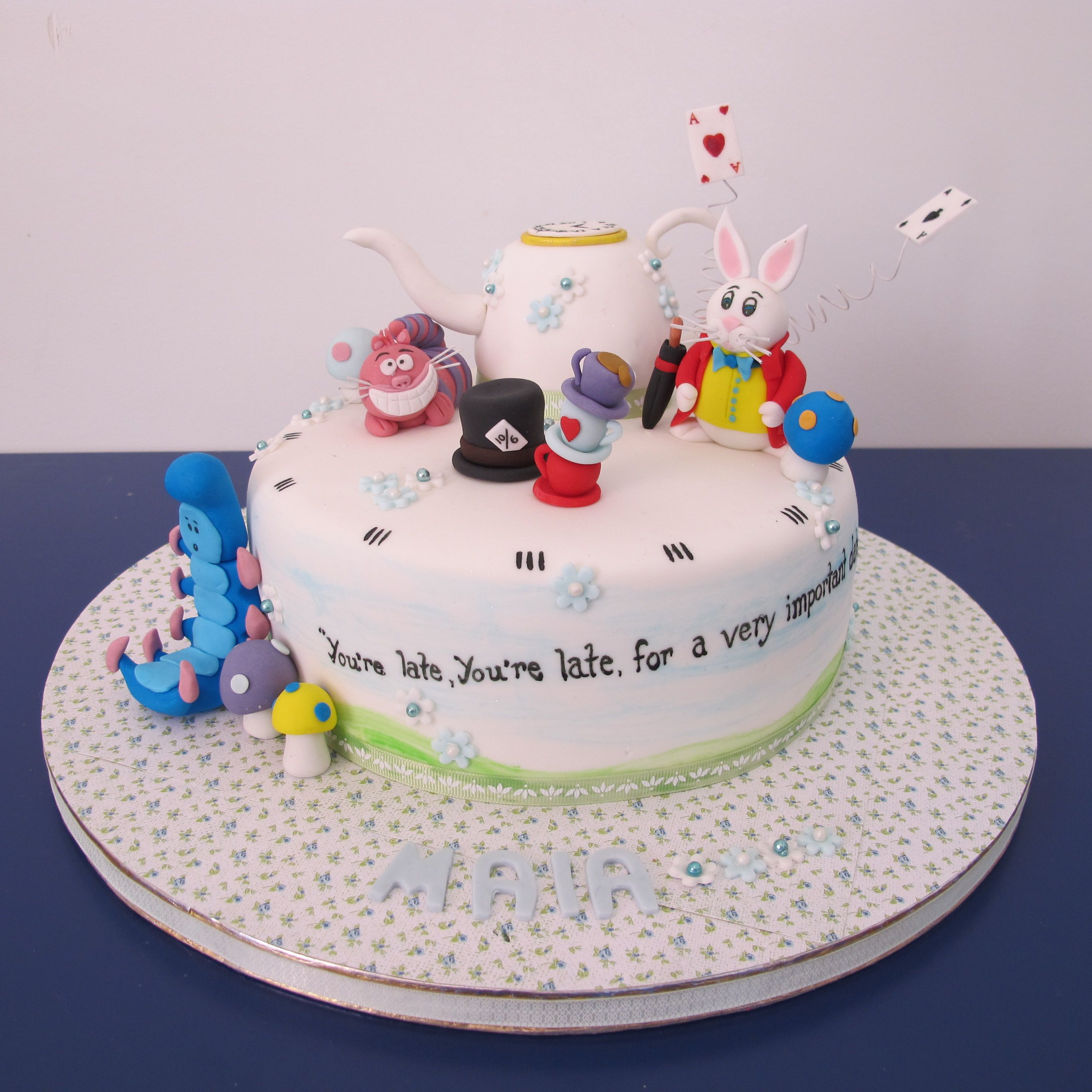 Mad Hatter Tea Party Cake - ainsley court