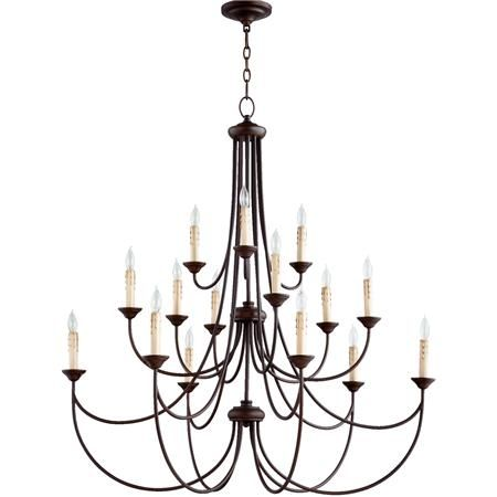 Transitional Colonial Chandelier Large