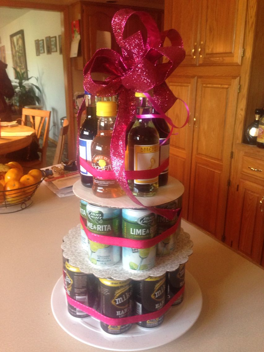 21st Birthday Gift for a Girl made with all types of girly