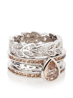 60% OFF Beyond Rings Etienne Set of 4 Stack Ring Set