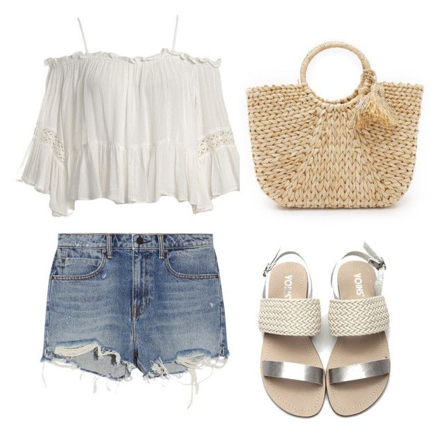 """""""summer walk"""" by cotutiu-crina on Polyvore featuring Alexander Wang, Sans Souci and Hat Attack"""