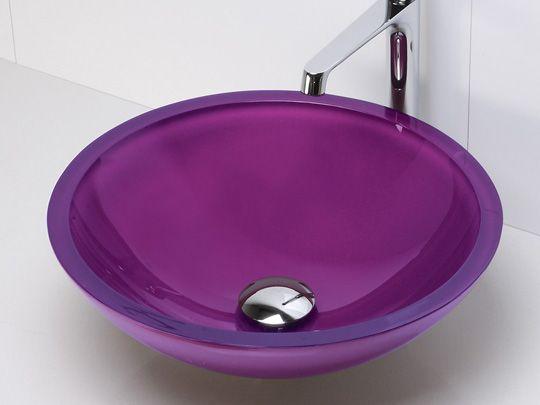 Good Purple Sink   Sinks   From Just $65 U003e Tempered Glass Vessel Sink   Painted  Purple