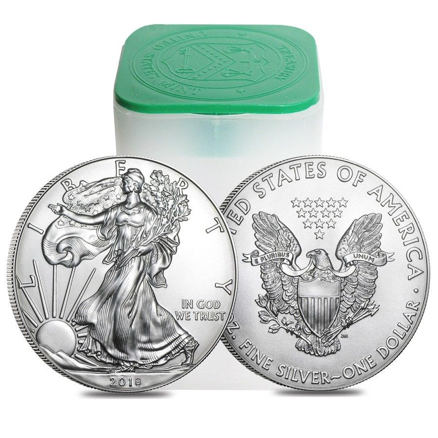 Coins Sale Price Roll Of 20 2018 1 Oz Silver American Eagle 1 Coin Bu Lot Tube Please Retweet Silver Eagle Coins Silver Bullion Eagle Coin