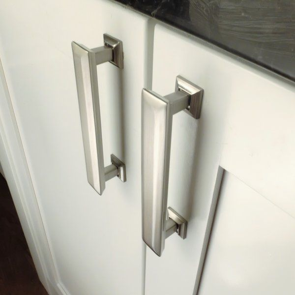 richelieu p cabinet pull pulls knobs abstract inch and decorative nickel brushed center to