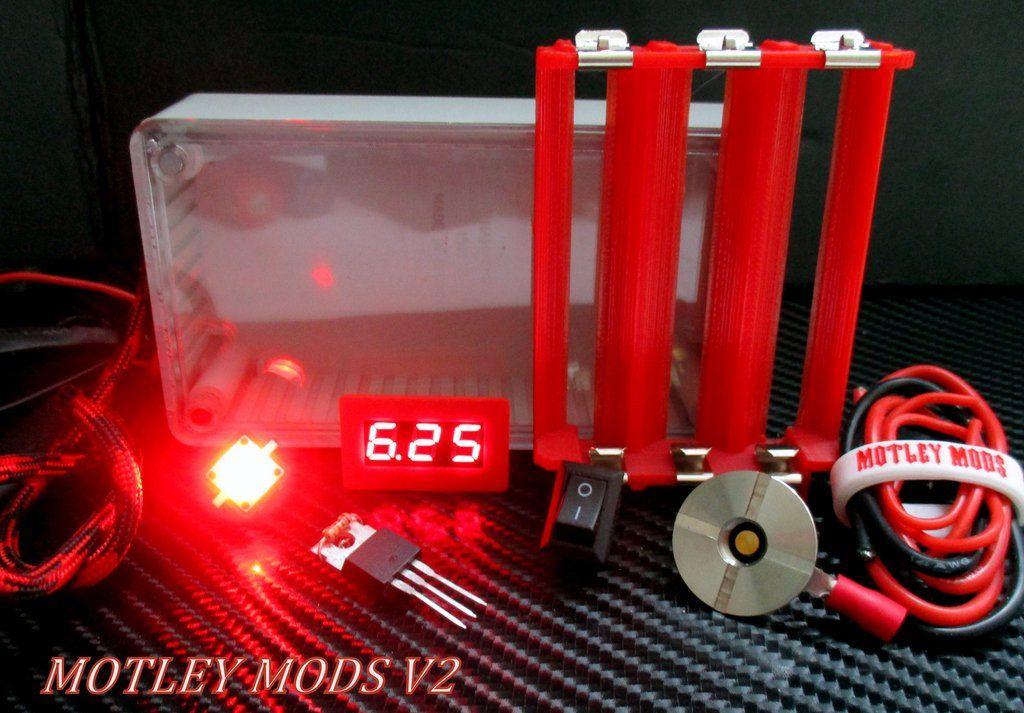 Box Mod Kit 1591B Red Triple Box mods, Diy box mod, Red led