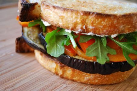 Dinner tonight: Eggplant and Goat Cheese Sandwiches | BetsyLife