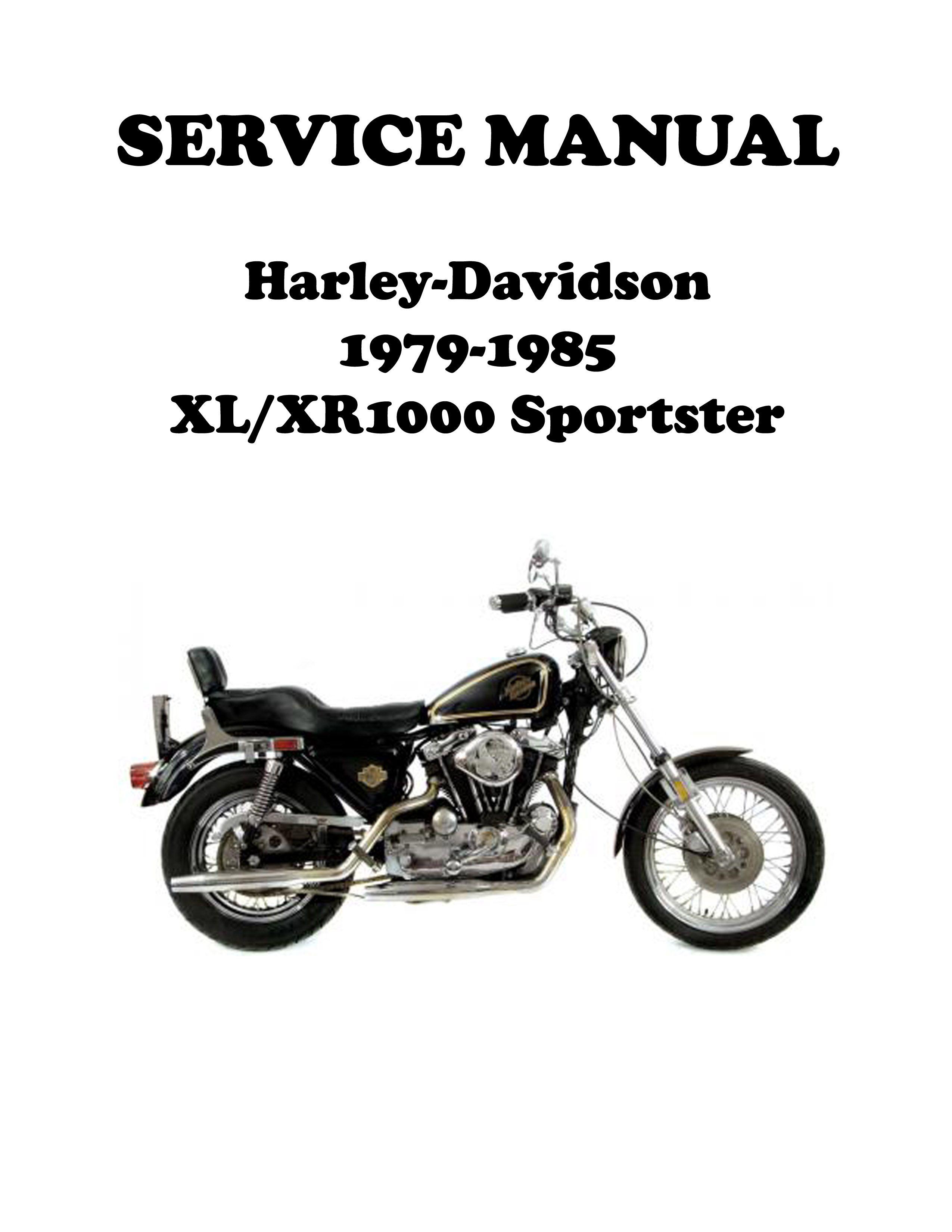 1979-1985 Harley Sportster Ironhead Repair Manual | Fixin ... on