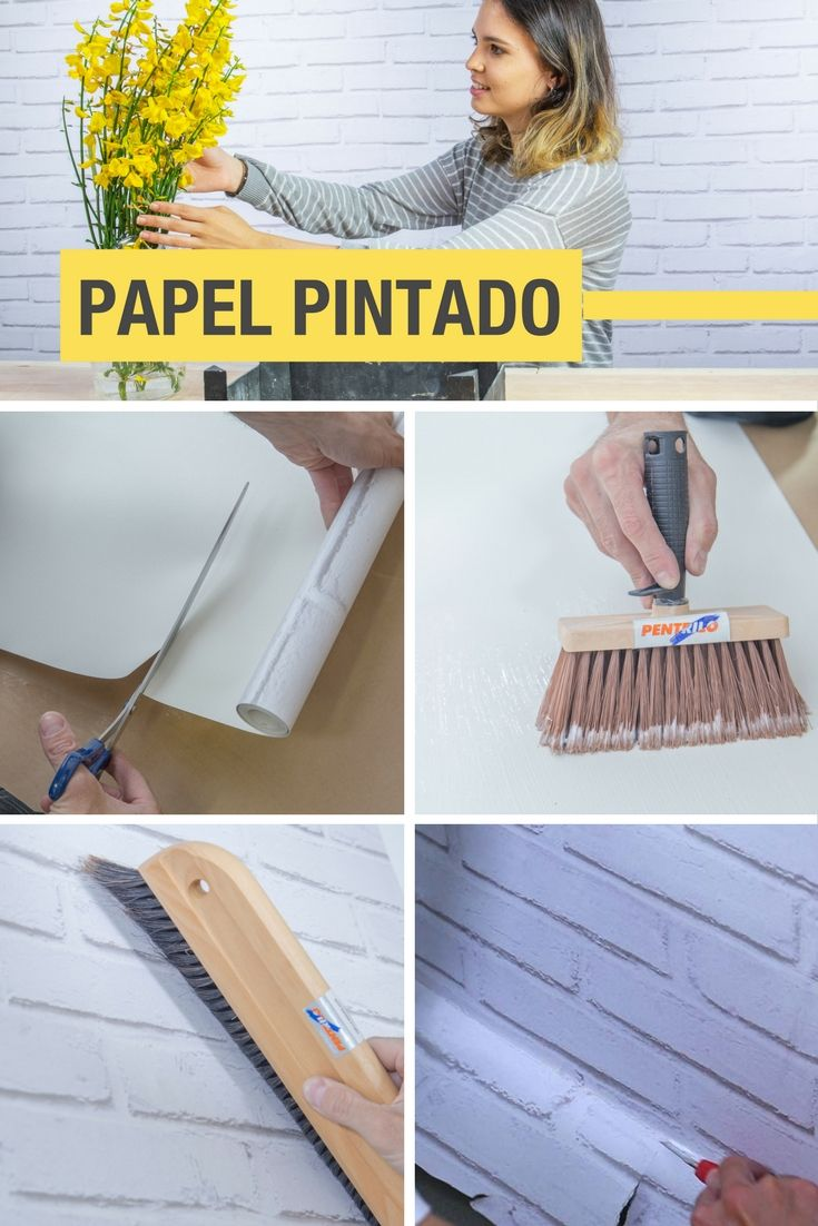 Poner papel pared gallery of cool cool excellent with - Papel pintado sobre gotele ...