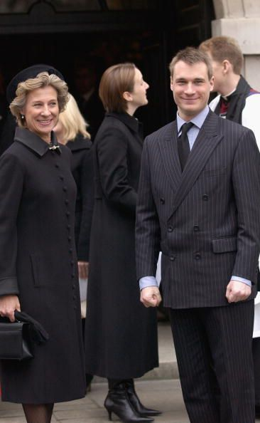 Earl Of Ulster Wedding: Duchess Of Gloucester And Her Son Alexander The Earl Of