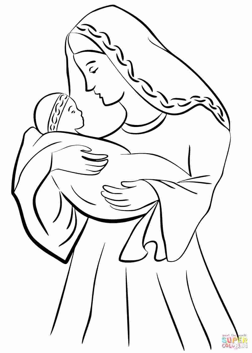 - Coloring Pages: Coloring Pages Of Mary And Jesus New 45 ++