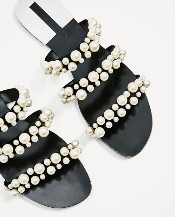 d7f99854870 Image 6 of PEARLY STRAPPY SANDALS from Zara