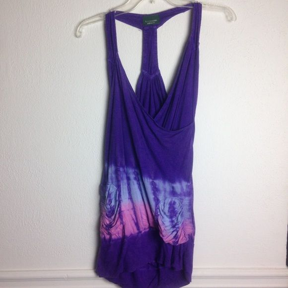 Tie dye dress Great for the beach or pool or festival! Love that it has pockets! I found one small hole when I was taking photos  , other than that good condition. Not free people. ❌I don't trade❌I don't do PP Free People Dresses