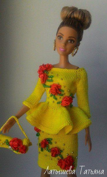 Вязание для кукол.   Одежда для барби, Одежда для куколок ...