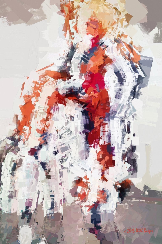 Femme Nordique No. 1 #abstractpainting #twitart #portrait #sweden