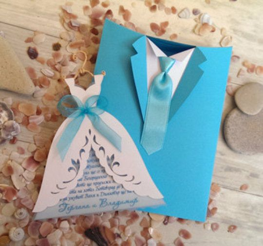 Sample invitation and gifts ties for Luis por SarayaWedding