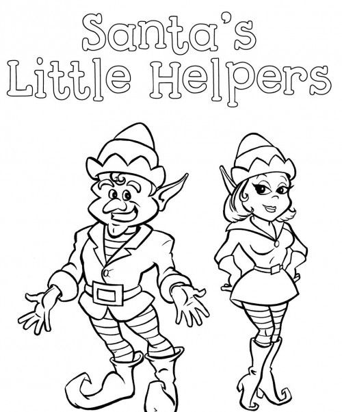 christmas elves santa little helpers coloring page christmas elf christmas colors christmas crafts