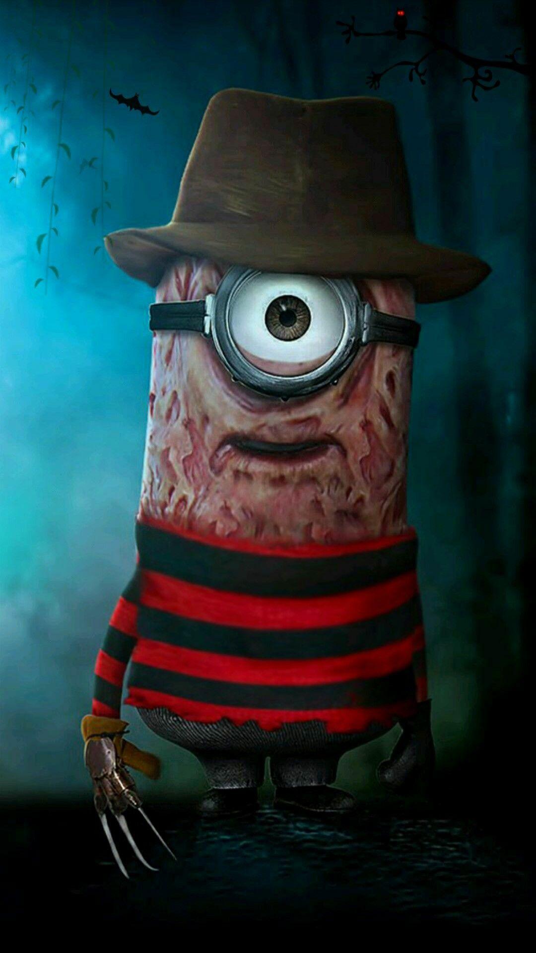 Freddy Minion Horror photos, Halloween wallpaper, Funny