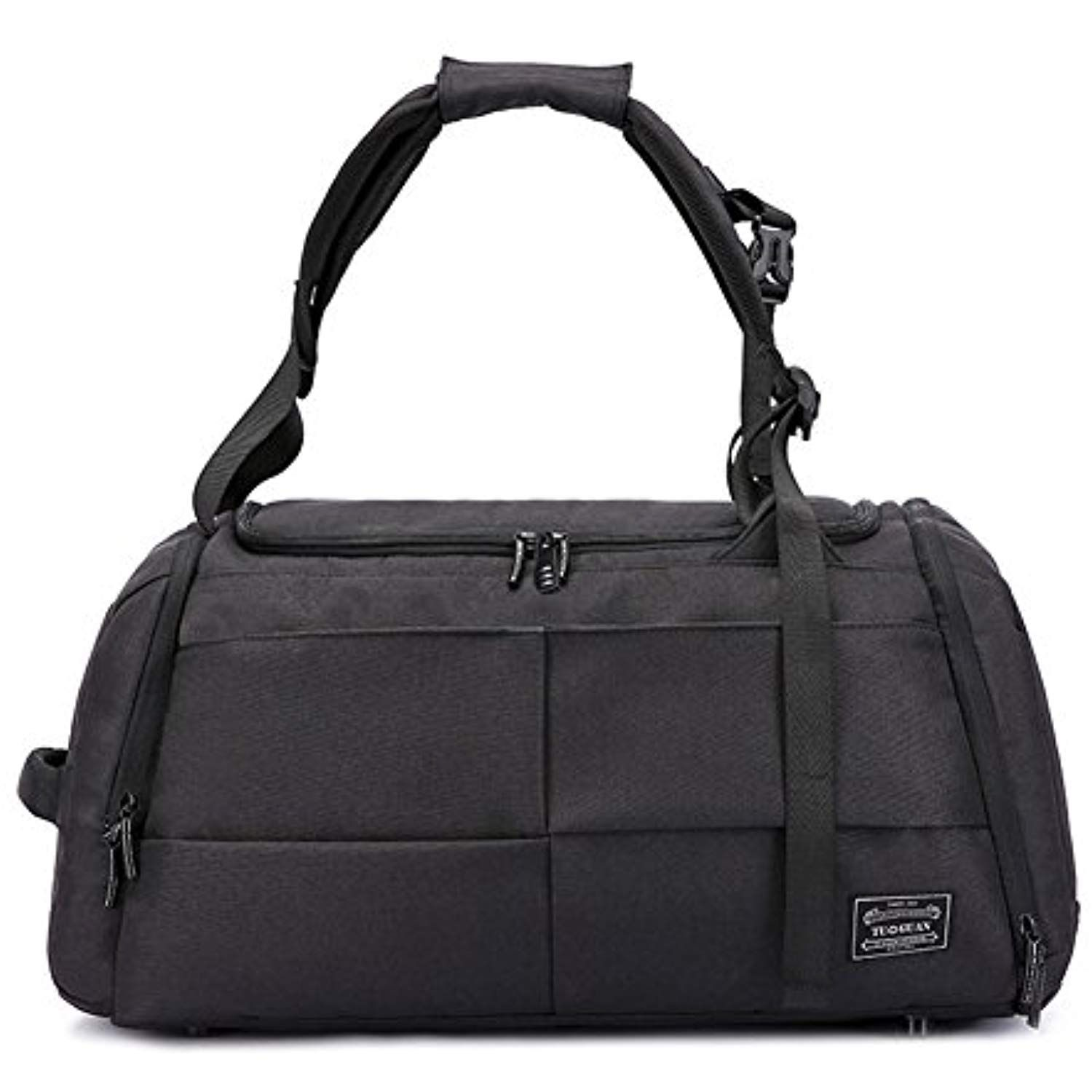 a176a32a9ed8 HaloVa Gym Bag, Large Retro Sports Duffel Tote Backpack with Shoes ...