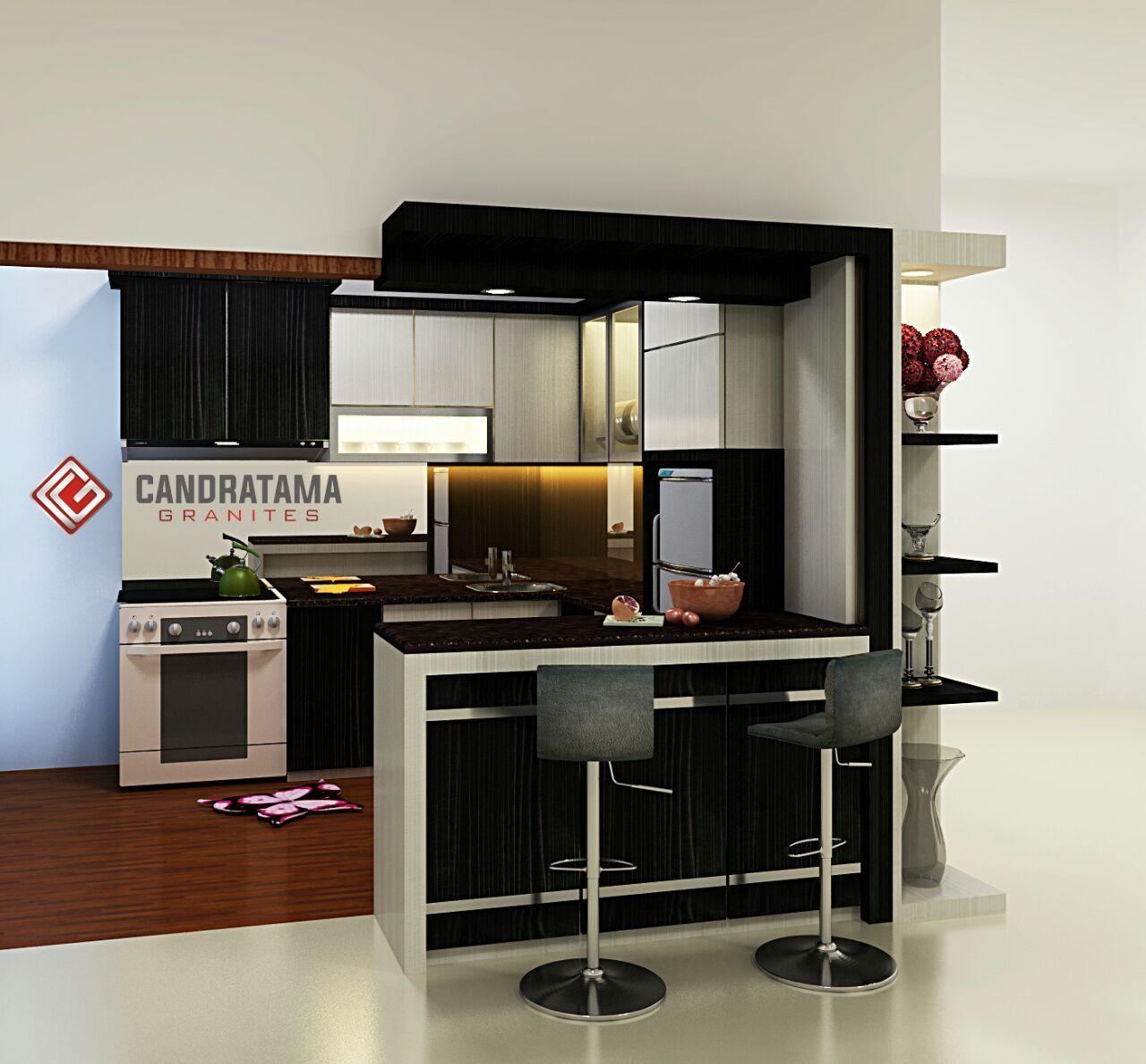 interior kitchen set model mini bar   Rumah, Bar mini, Interior rumah