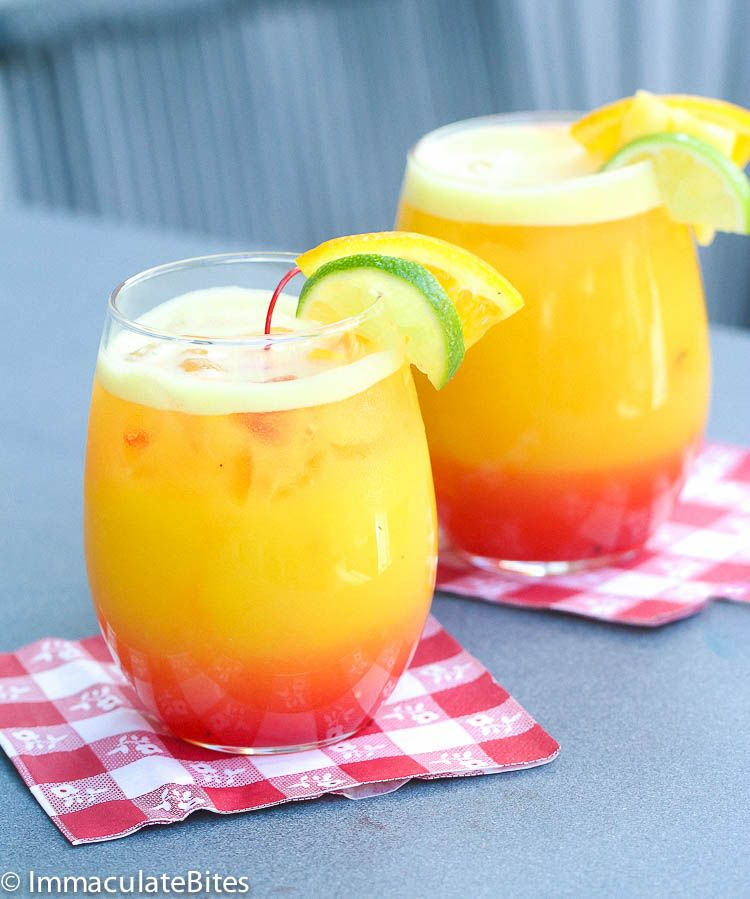 Pineapple Juice, Drinks Made With Rum