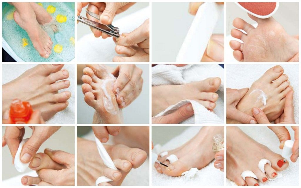 DIY pedicure: click for step-by-step instructions.
