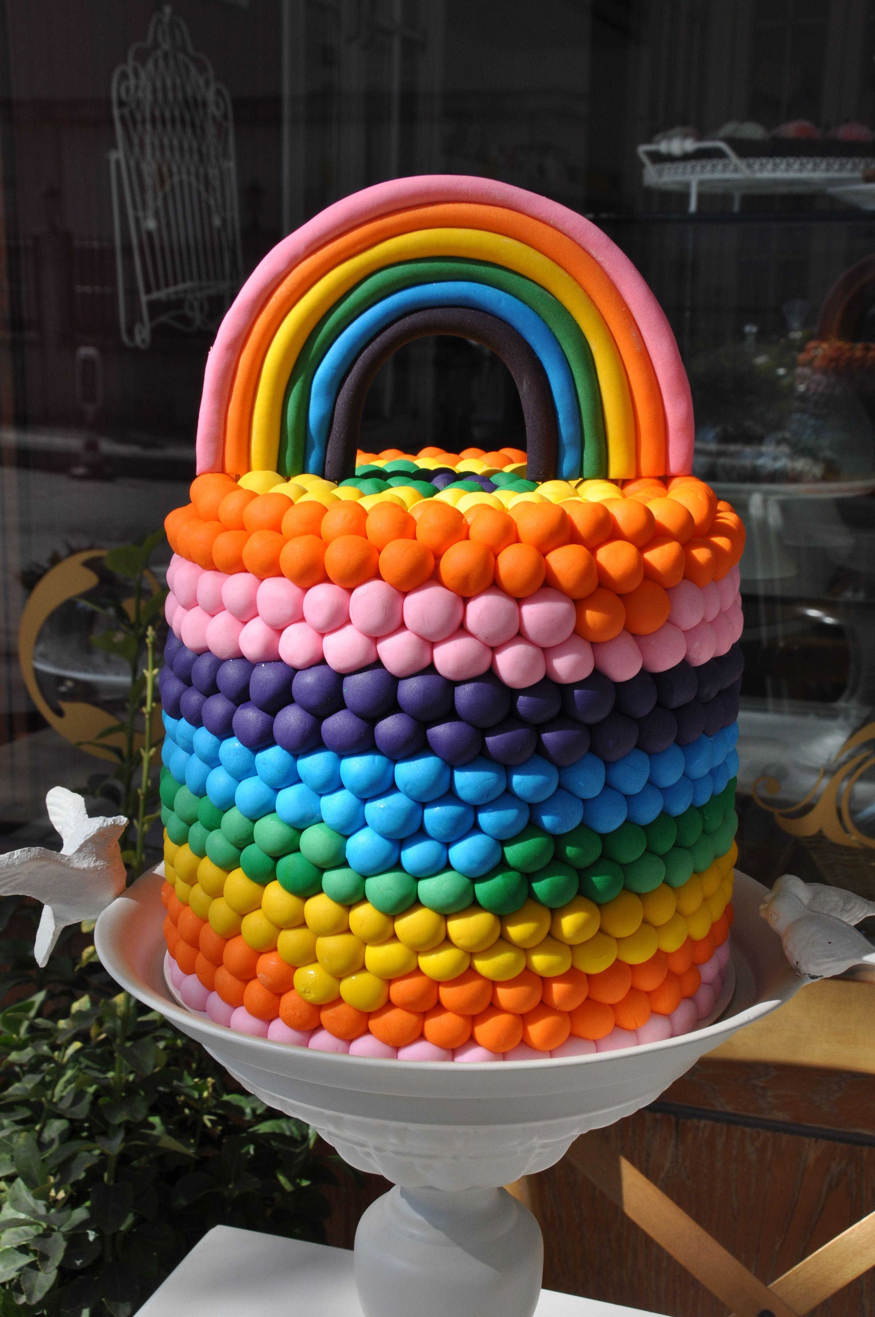 Rainbow Cake Ideas. İnstagram: happycaking