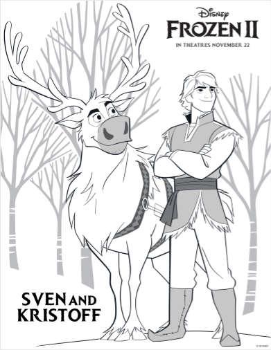Sven And Kristoff Crafts Printables Disney Frozen2