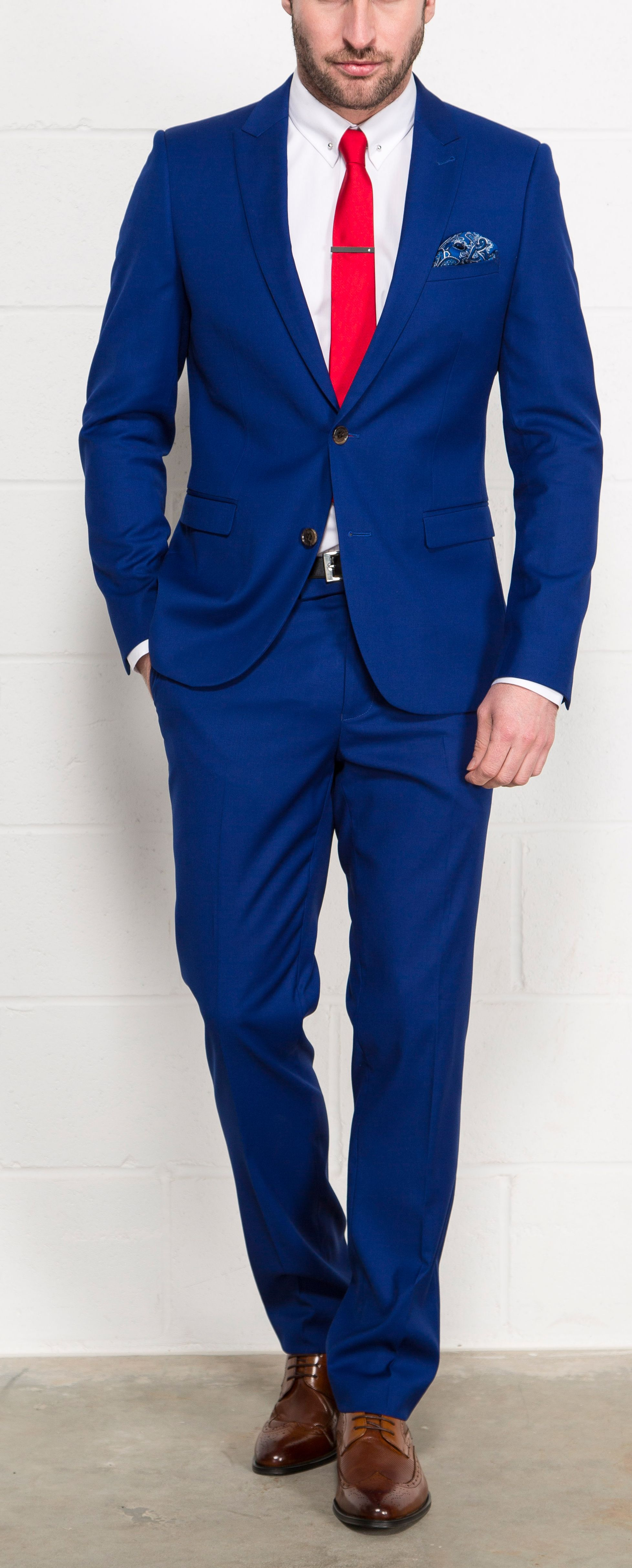 Mens suits online · Harry Brown Bold Blue Two Piece Slim Fit Suit // Slater  Menswear| me and