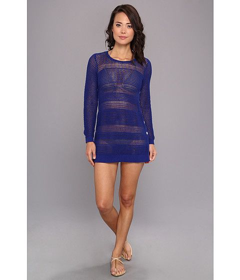 d93c227c1621e Tommy Bahama Tommy Bahama Beach Sweater w Side Buttons CoverUp Offshore  Blue Womens Swimwear for 47.99 at Im in!