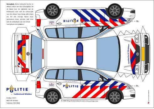 Yorlogor Polizeiauto Bastelvorlage Kindergeburtstag