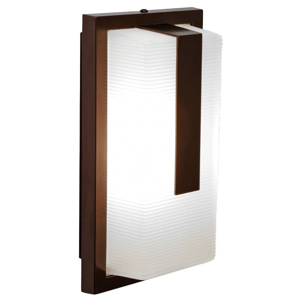 Neptune marine grade outdoor wall light with ribbed frosted glass