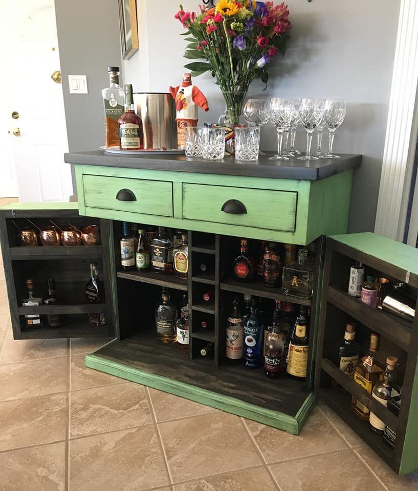 Custom bar cart farmhouse furniture craft home