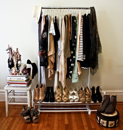 Bedroom Clothing Rack | Clothes racks, Bedrooms and Apartments