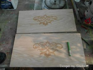 DIY:  How To Use The  Glue-Resist Technique With Stain - before staining your project, apply glue to an area you don't want stain & the stain won't adhere.
