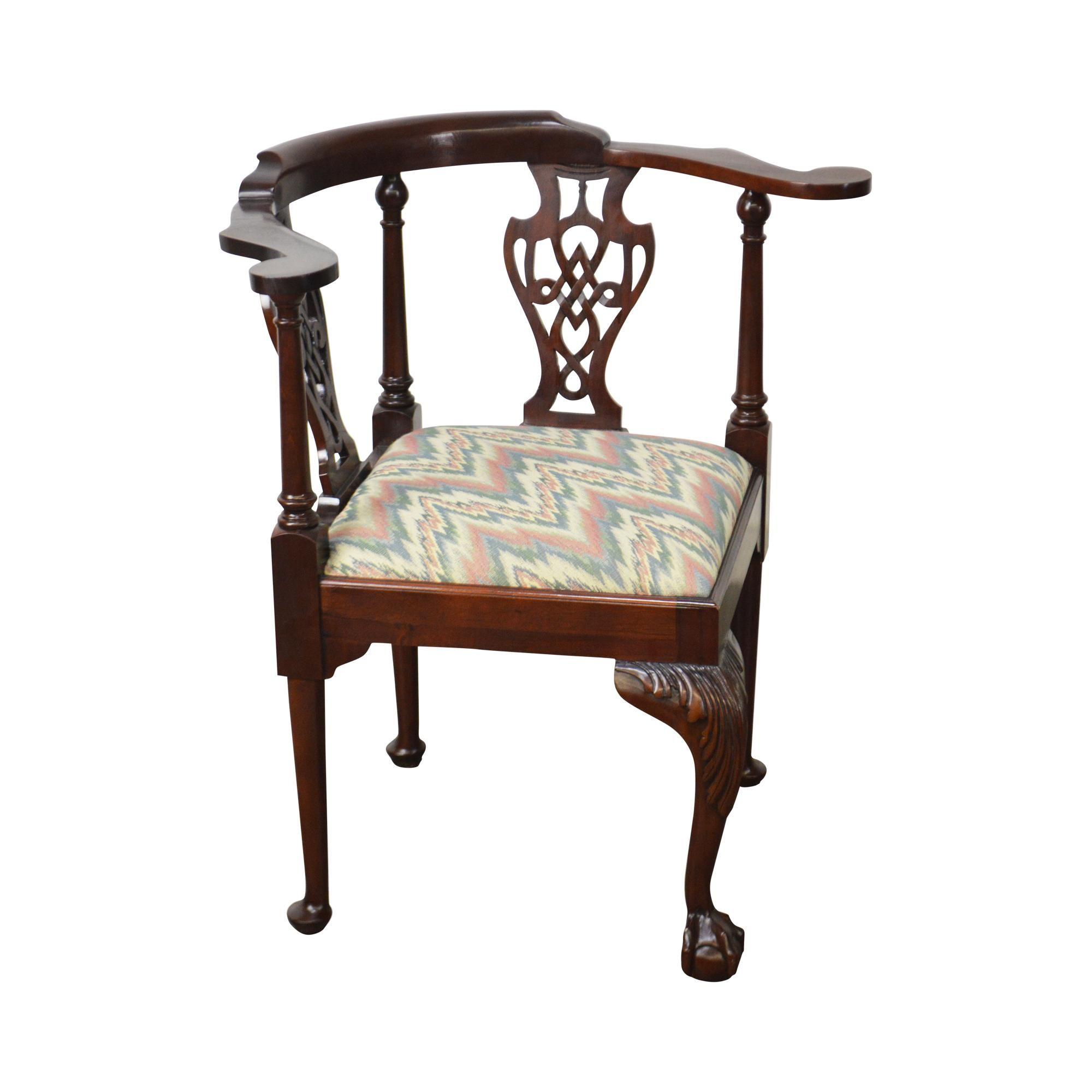 Enjoyable Southwood Chippendale Style Mahogany Ball Claw Corner Machost Co Dining Chair Design Ideas Machostcouk