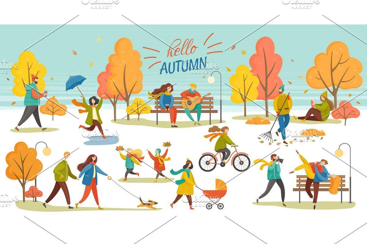 Hello Autumn People Walking in Park , #AD, #dog#walking#park#couple #Ad #helloautumn