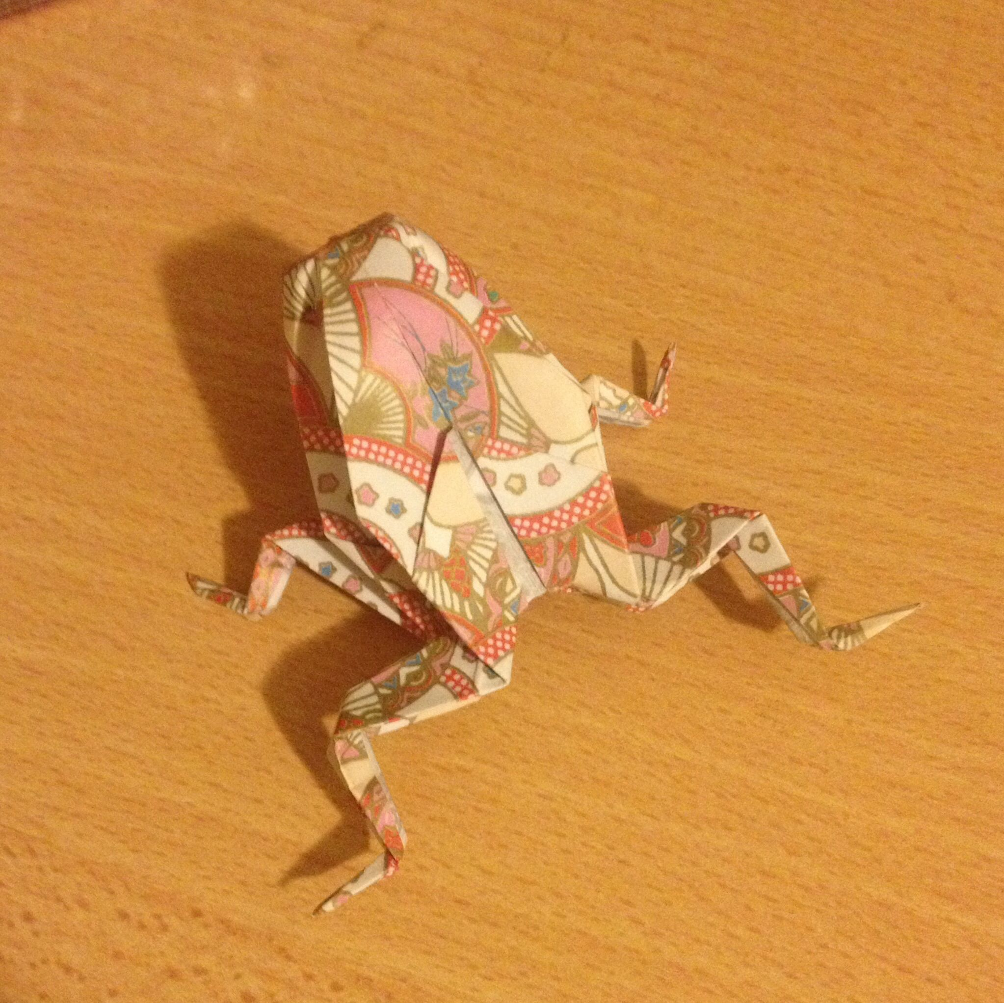 Traditional origami frog origami pinterest origami frog traditional origami frog jeuxipadfo Image collections