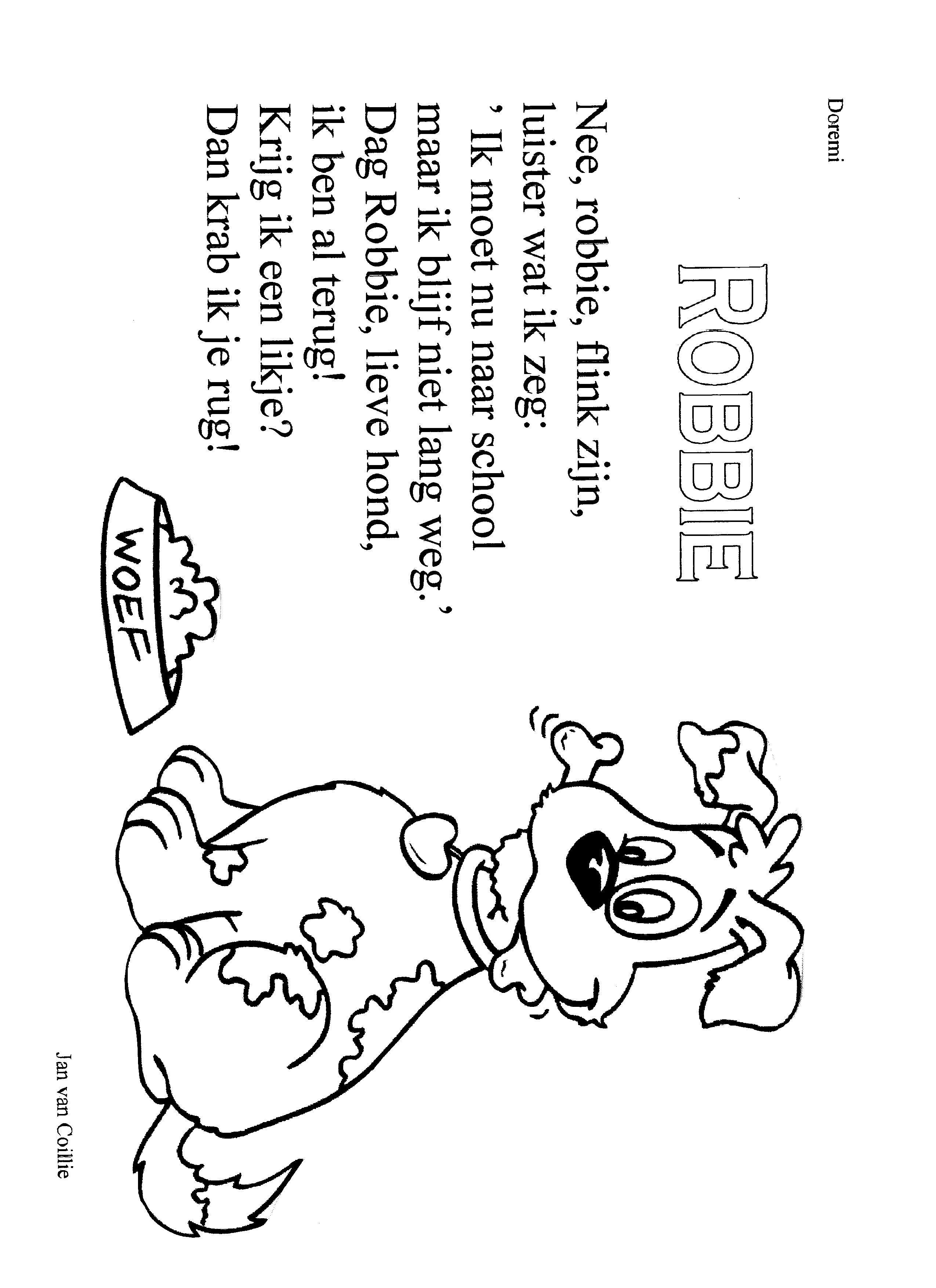 Versje Robbie De Hond Huisdier Honden Honden Huisdieren