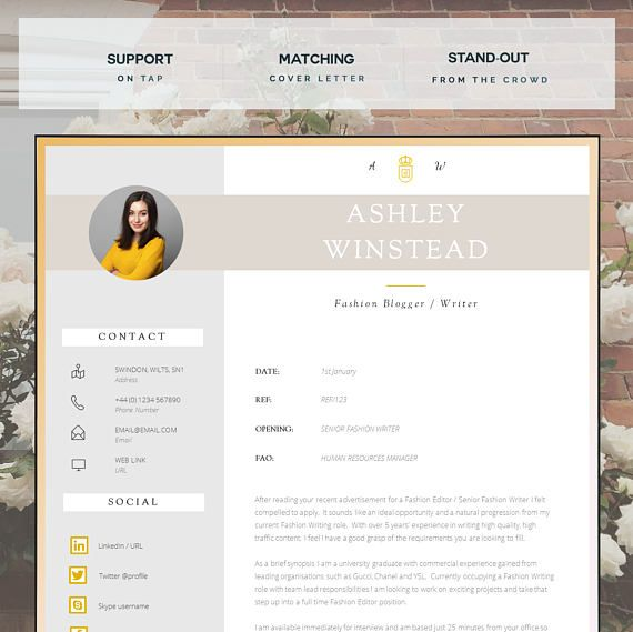 Resume Template Creative Resume Template Two Page  Cv