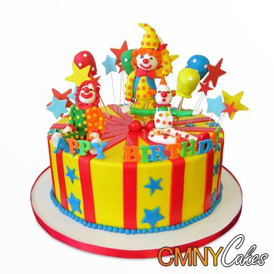 Clowns Birthday Cake CAKES Pinterest Birthday cakes and Cake