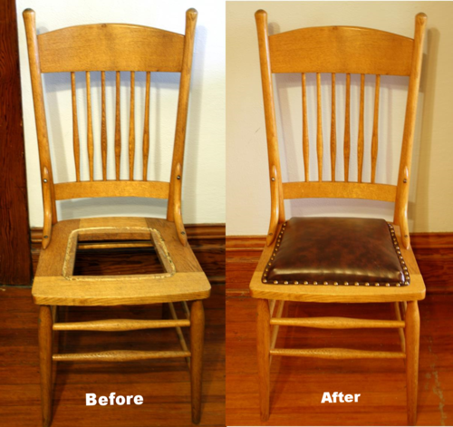 Upholstery 101 Replace Broken Caning With A Padded Seat Antique Dining Chairs Wood Chair Makeover Chair Makeover