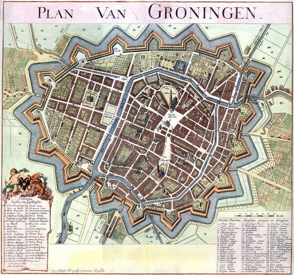 17th century Groningen Netherlands  Maps  Pinterest
