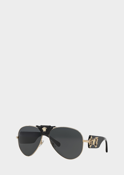 039683592d56 Versace Black Medusa Sunglasses for Men