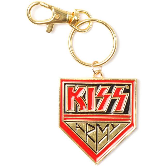 KISS Army Logo Gold Metal Keychain Keyring