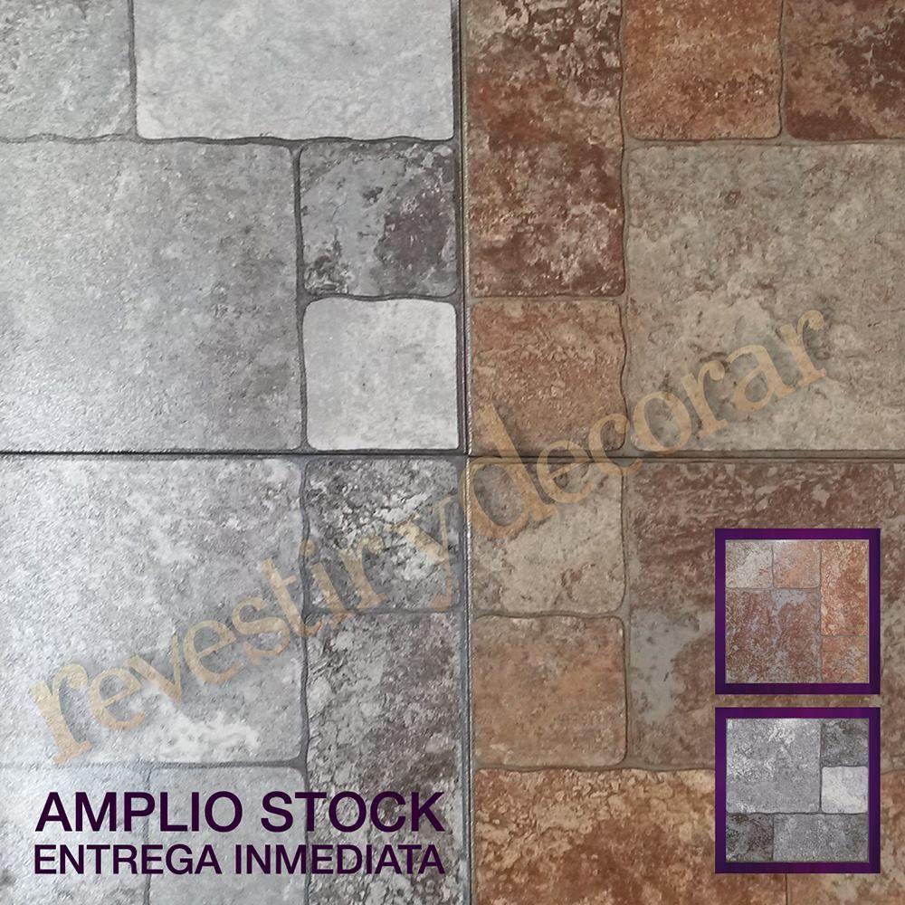 Ceramica piso exterior simil piedra 1 calidad oferta for Azulejos patio exterior